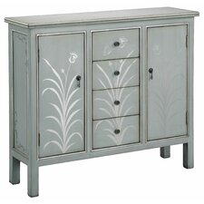 2 Door 4 Drawer Accent Cabinet