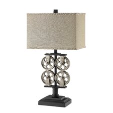 "Whitmore Hall 28"" H Table Lamp with Rectangle Shade"