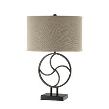 "Olkley 28.5"" H Table Lamp with Oval Shade"