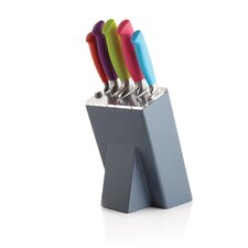 Colourworks 5 Pieces Knife Set and Graphite Block