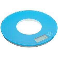 Colourworks Electronic Round Platform Kitchen Scales in Blue