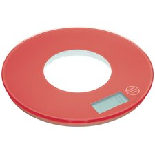 Colourworks Electronic Round Platform Kitchen Scales in Red