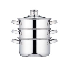 Clearview Stainless Steel Three Tier Steamer with Lid