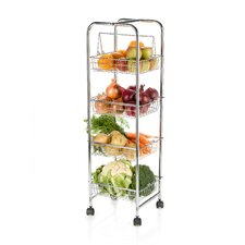 25cm x 25cm x 86cm Four Tier Trolley