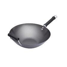 Oriental Carbon Steel Non-Stick Wok