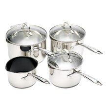 <strong>KitchenCraft</strong> Clearview Pour 'n' Strain 4 Piece Cookware Set