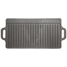 <strong>KitchenCraft</strong> Clearview Deluxe Cast Iron Griddle