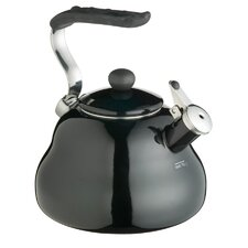 Le'Xpress Coloured 2 Litres Whistling Kettle in Midnight Black