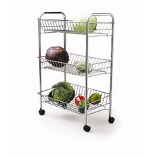 66cm x 28cm x 43cm Three Tier Trolley