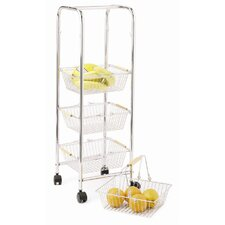 Chrome Plated Four Tier Trolley