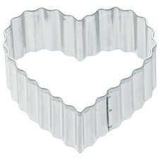 Cookie Cutter in Small Fluted Heart (Set of 12)
