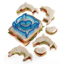 Let's Make Dolphin and Heart Shaped Sandwich Cutter