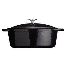 Molten Cast Iron Oval Casserole in Black