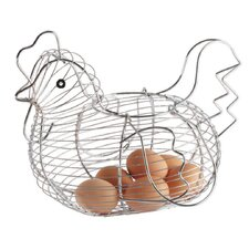 Wire Large Chicken Basket in Chrome
