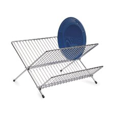 Large Fold Away Dish Drainer in Chrome