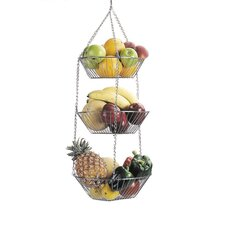 Three Tier Hanging Vegetable and Fruit Basket in Chrome