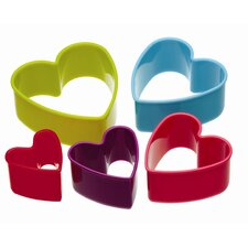 Colourworks Five Piece Heart Shaped Cookie Cutters Set (Set of 6)
