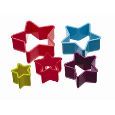 Colourworks Five Piece Star Shaped Cookie Cutters Set (Set of 6)