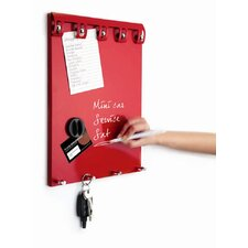Metro Kitchen Magnetic Memo Board with Pen in Red