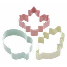 <strong>KitchenCraft</strong> Sweetly Does It Cookie Cutter Set - Autumn Patterned in Assorted Colours