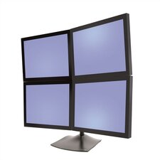 <strong>Ergotron</strong> Desk Stand 100 Quad Monitor- Vertical
