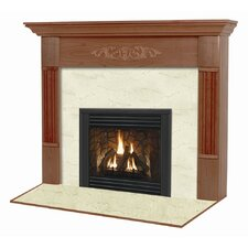 Deluxe Flush Fireplace Mantel Surround