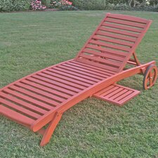 <strong>International Caravan</strong> Royal Tahiti 5-Postion Balau Wood Patio Chaise Lounge