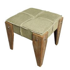 <strong>International Caravan</strong> Rustic Elegance Ottoman with Cushion