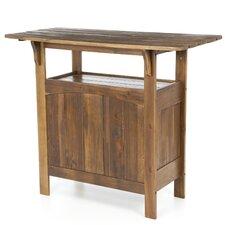 Highland Acacia Patio Wood Bar Table
