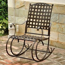 Santa Fe Nailhead Iron Patio Rocking Chair
