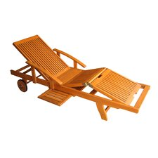 Caravan Multi Positional Balau Wood Chaise Lounge