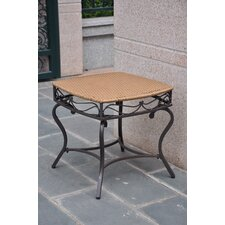 <strong>International Caravan</strong> Valencia Wicker Resin Patio Side Table