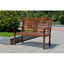 Trinidad 2-Seater Outdoor Wood Bench