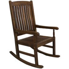 <strong>International Caravan</strong> Highland Acacia Traditional Wood Porch Rocker