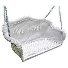 Chelsea Wicker Porch Swing with Chain