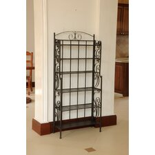 Six Shelf Iron CD/DVD Rack
