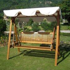 Royal Tahiti 3-Seater Balau Swing with Frame and Canopy