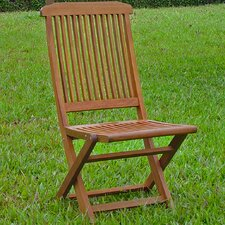 Highland Acacia Folding Patio Chair (Set of 2)