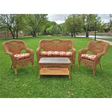 <strong>International Caravan</strong> Dresden 4 Piece Lounge Seating Group