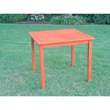"International Caravan Royal Tahiti 32"" Square Patio Table"