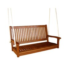 International Caravan Royal Tahiti Balau 2-Seater Wood Porch Swing