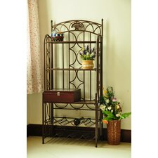Charleston 5-Tier Iron IndoorOutdoor Bakers Rack