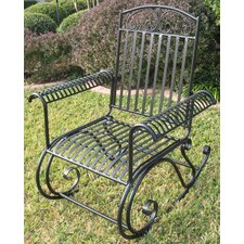 International Caravan Tropico Wrought Iron Patio Rocker