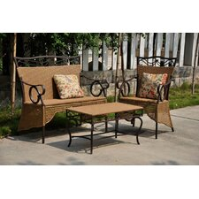 <strong>International Caravan</strong> Valencia 3 Piece Patio Lounge Seating Group