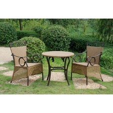 <strong>International Caravan</strong> Valencia 3 Piece Skirted Bistro Set