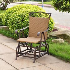 <strong>International Caravan</strong> Valencia Outdoor Wicker Single Glider Chair