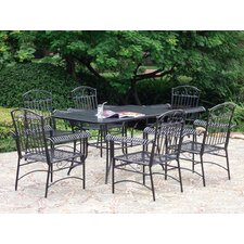 Tropico Wrought Iron Patio Dining Set (Set of 7)