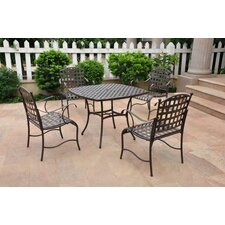 International Caravan Santa Fe 5-Piece Wrought Iron Patio Set