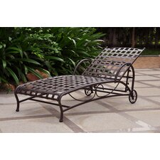 International Caravan Santa Fe Wrought Iron Patio Chaise Lounge