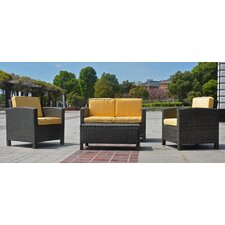 <strong>International Caravan</strong> St. Marten 4 Piece Deep Seating Group with Cushions